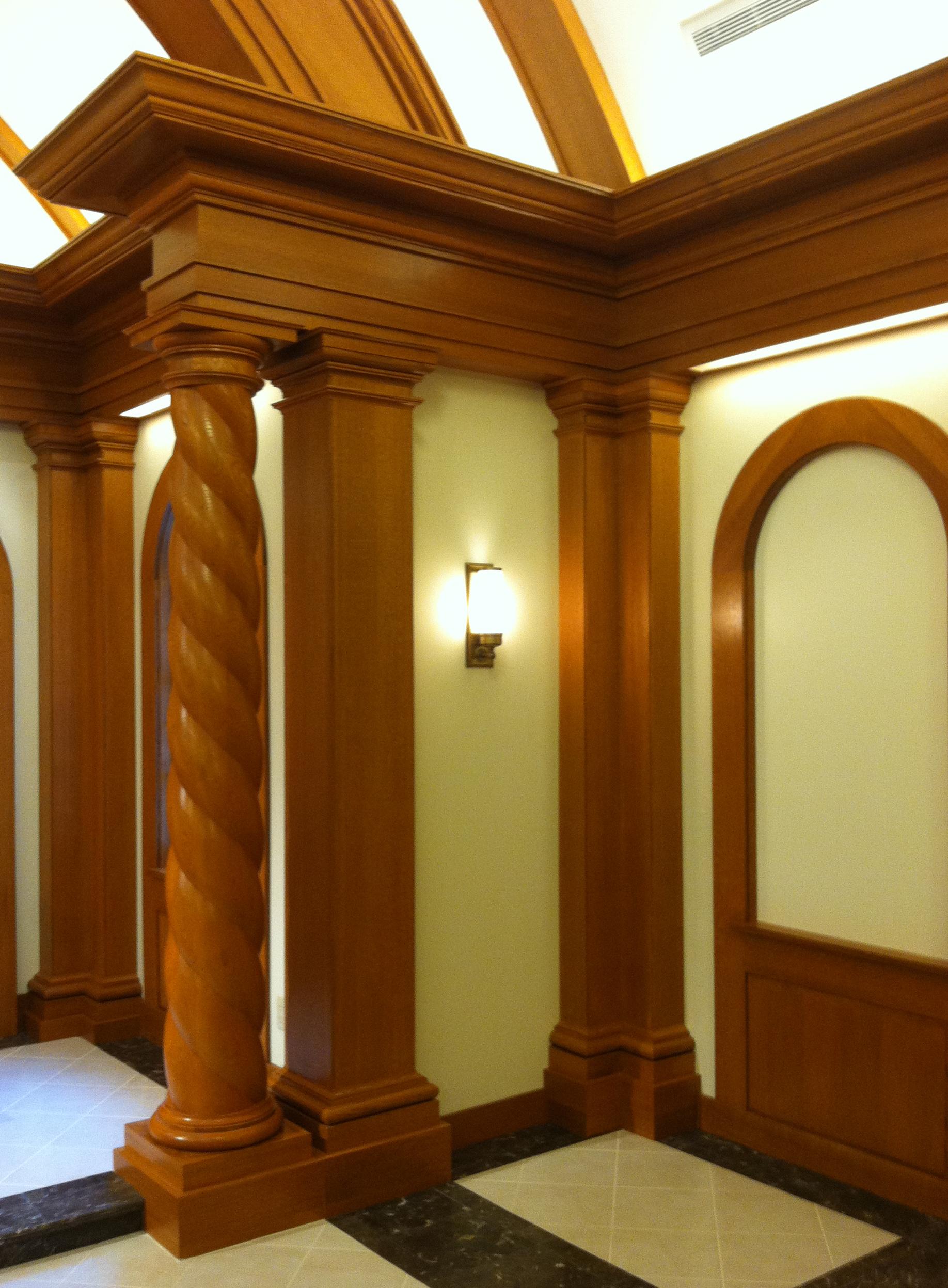 Twist Wood Columns : White oak columns chadsworth s lumns