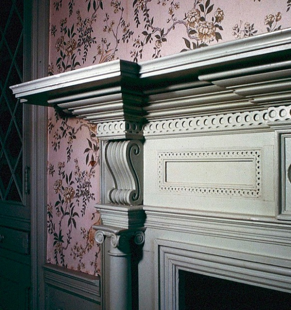 Figure 15. Mantel detail, Glen Maury, Buena Vista, Virginia (Loth).