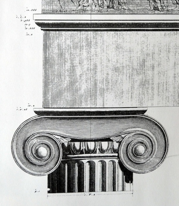 Figure 6. James Stuart & Nicholas Revett, The Antiquities of Athens, Vol. 1, 1762, Chapter II, Plate VI (detail).