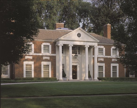 Chadsworth's Authentic Replication Custom Colossal Columns -  Plain, Round, Tapered Columns with Greek Erechtheum Capitals &  Ionic (Attic) Base Moldings.
