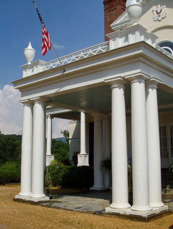 Exterior Plain Roman Doric Columns with Roman Doric Bases by Chadsworth Columns
