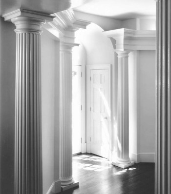 Interior Wood Fluted Roman Doric Columns with Attic Bases by Chadsworth Columns